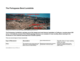 The Portuguese Bend Landslide
