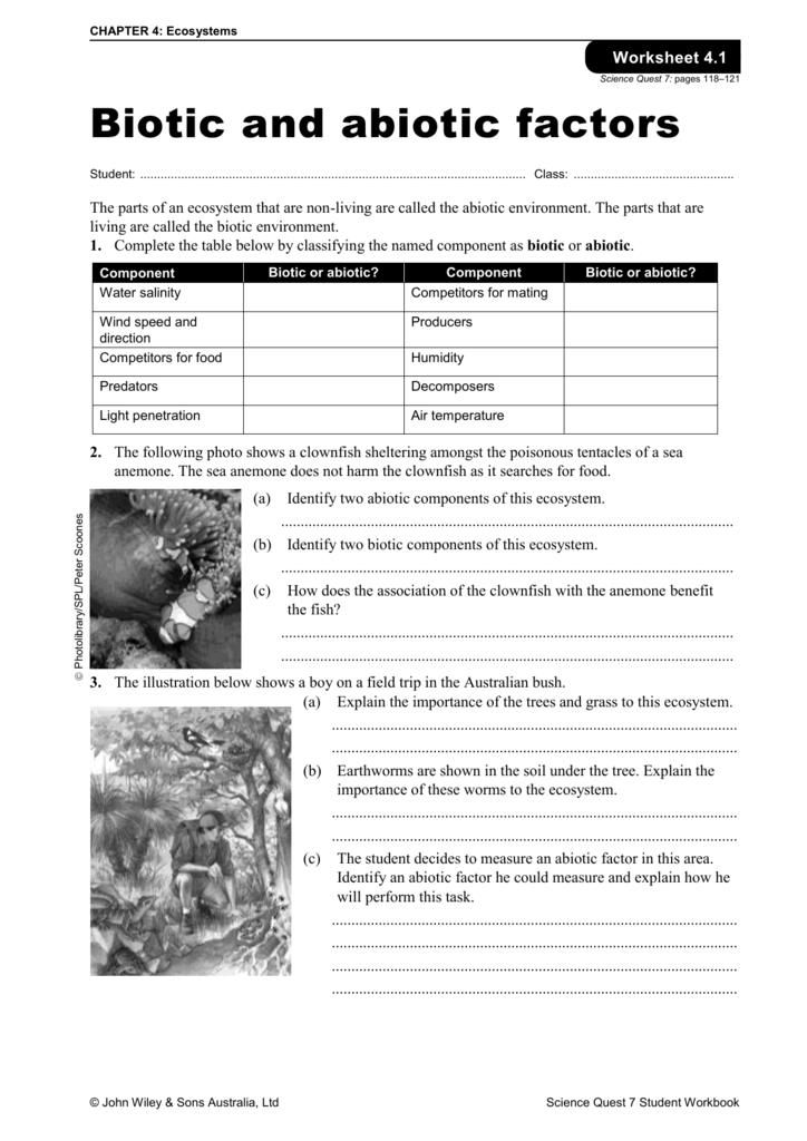 Abiotic And Biotic Factors File