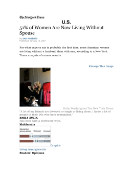 Women Living without a Spouse