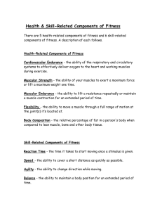 Health & Skill-Related Components of Fitness