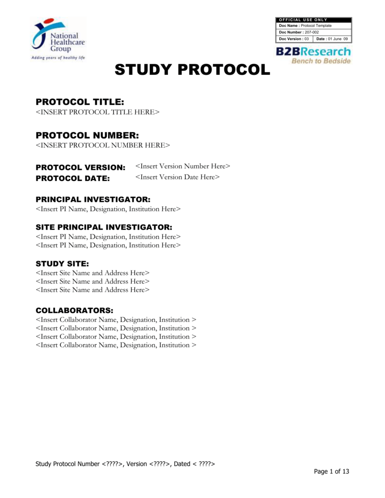 How To Write A Research Protocol Template Image collections ...