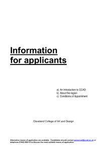for applicants - Cleveland College of Art and Design