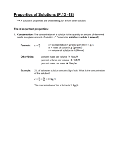 Properties of Solution