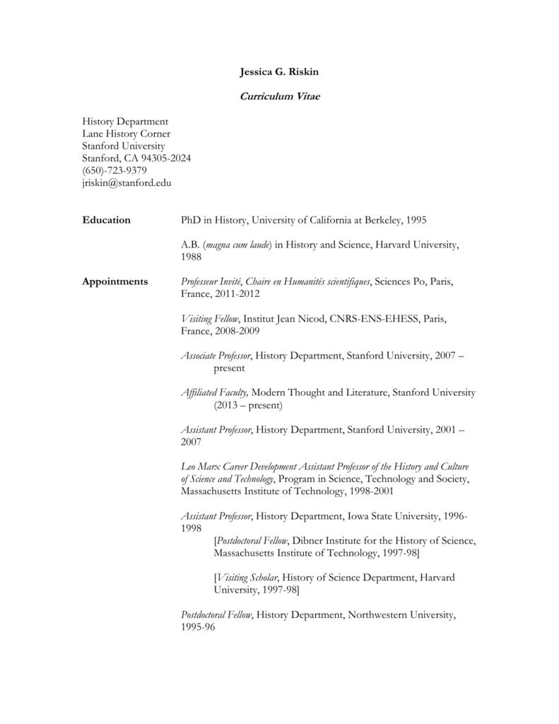 CV - Department of History