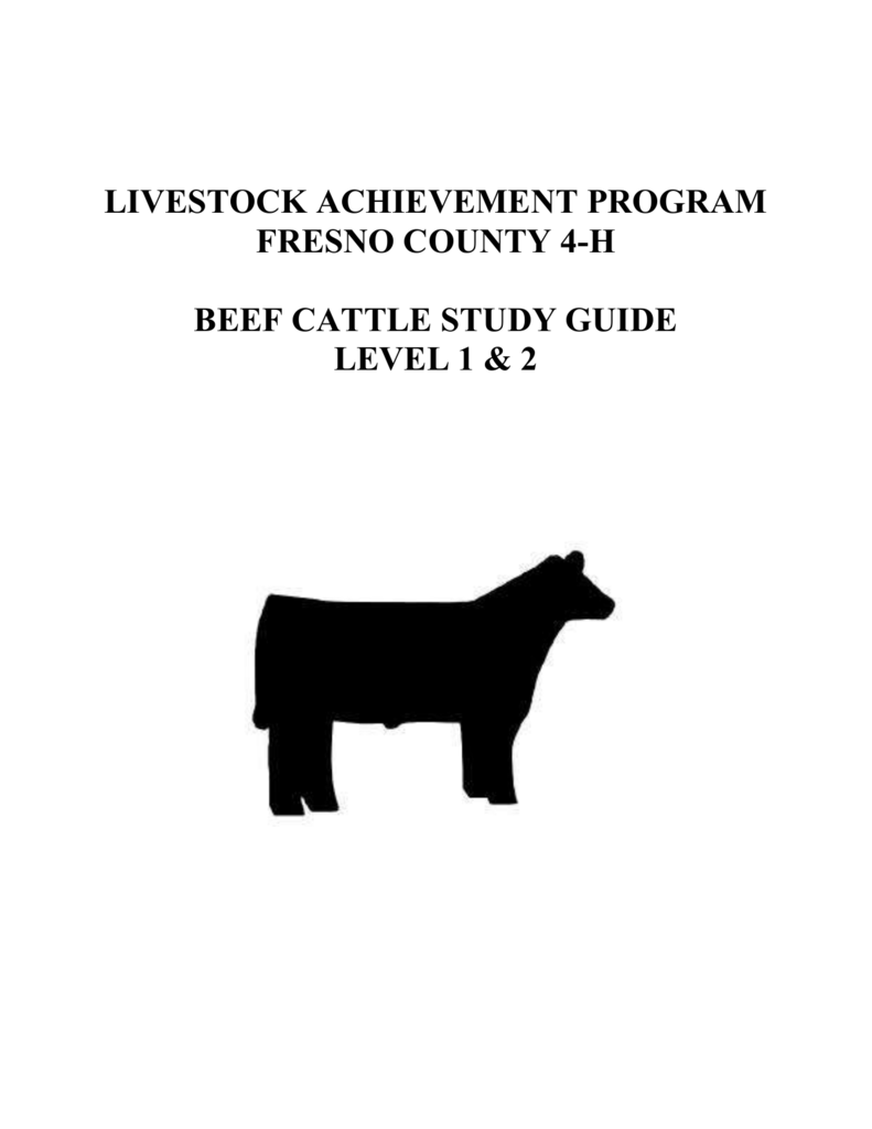 Beef Study Guide - UC Agriculture and Natural Resources