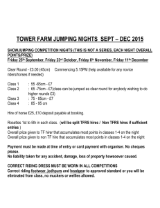 TOWER FARM JUMPING NIGHTS 2015