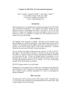 Template for 2005 IEEE AP-S International Symposium