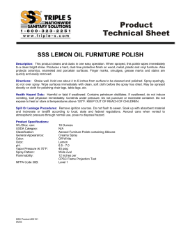 Lemon Oil Furniture Polish