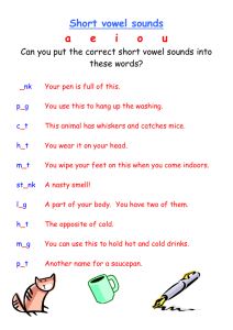 Short vowel sounds - Primary Resources