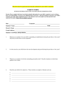 PARENT Form - westlake counseling