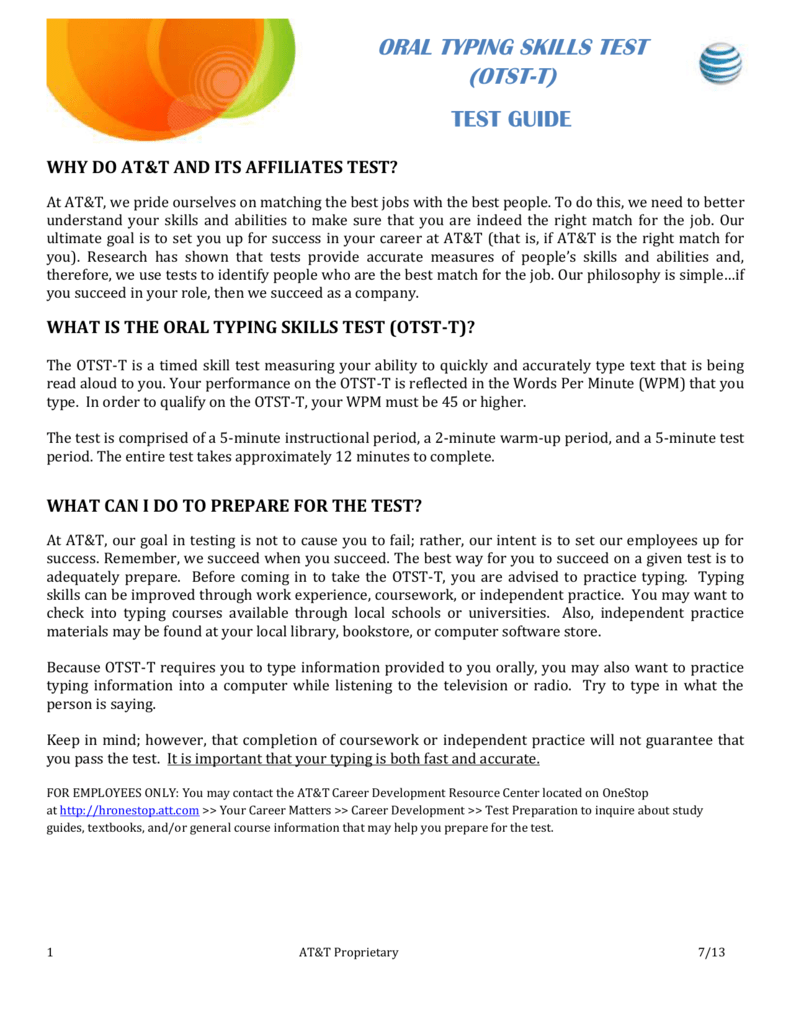 oral typing skills test t rh studylib net Police Exam Study Guide Police Exam Study Guide