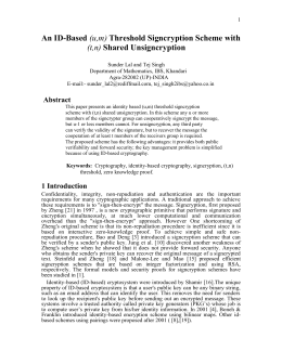 Abstract: - International Journal of Network Security
