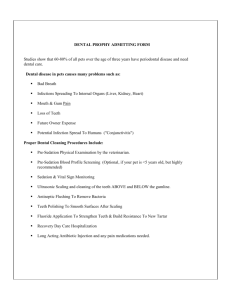 Dental Admit Form