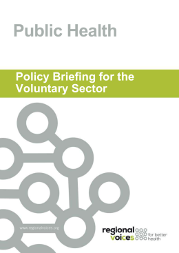 Public Health- a Policy Briefing for the Voluntary