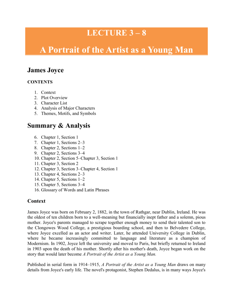A Portrait of the Artist as a Young Man by James Joyce (Annotated)