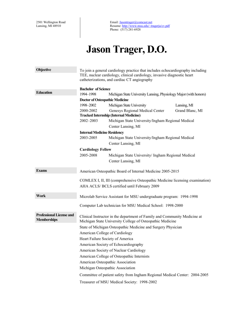 contemporary resume michigan state university