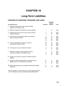 Chapter 2: Long-Term Liabilities