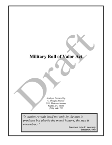 Military Roll of Valor: Working Paper