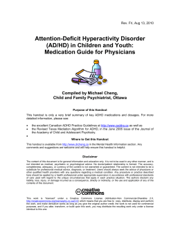 ADHD: Medication Guide for Family Physicians