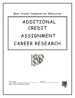 career research assignment Career research project & essay • use a career planning process that includes self-assessment this essay is your culminating assignment for this course.