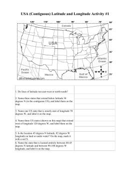 longitude latitude worksheet. Black Bedroom Furniture Sets. Home Design Ideas