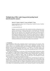 Multiplexing of fibre optic long period grating based