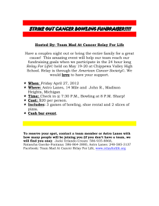 STRIKE OUT CANCER BOWLING FUNDRAISER!!!! Hosted By
