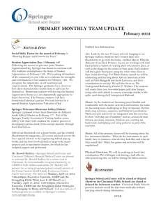 PRIMARY MONTHLY TEAM UPDATE February 2012 Notes & Info