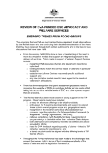 review of dva-funded eso advocacy and welfare services