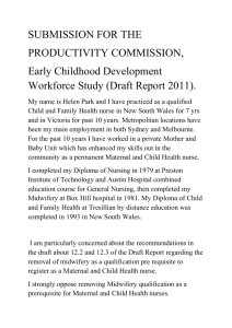 Early Childhood Development - Commissioned study