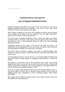 Press release: 04.09.2014 Livestock entries now open for East of