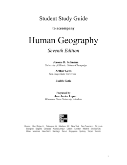 ap human geography ch 2 outline Ap human geography outline chapter 9 essay  ap human geography chapter 9 outline chapter 9: development development: process of improving the material conditions of people through diffusion of knowledge and technology.