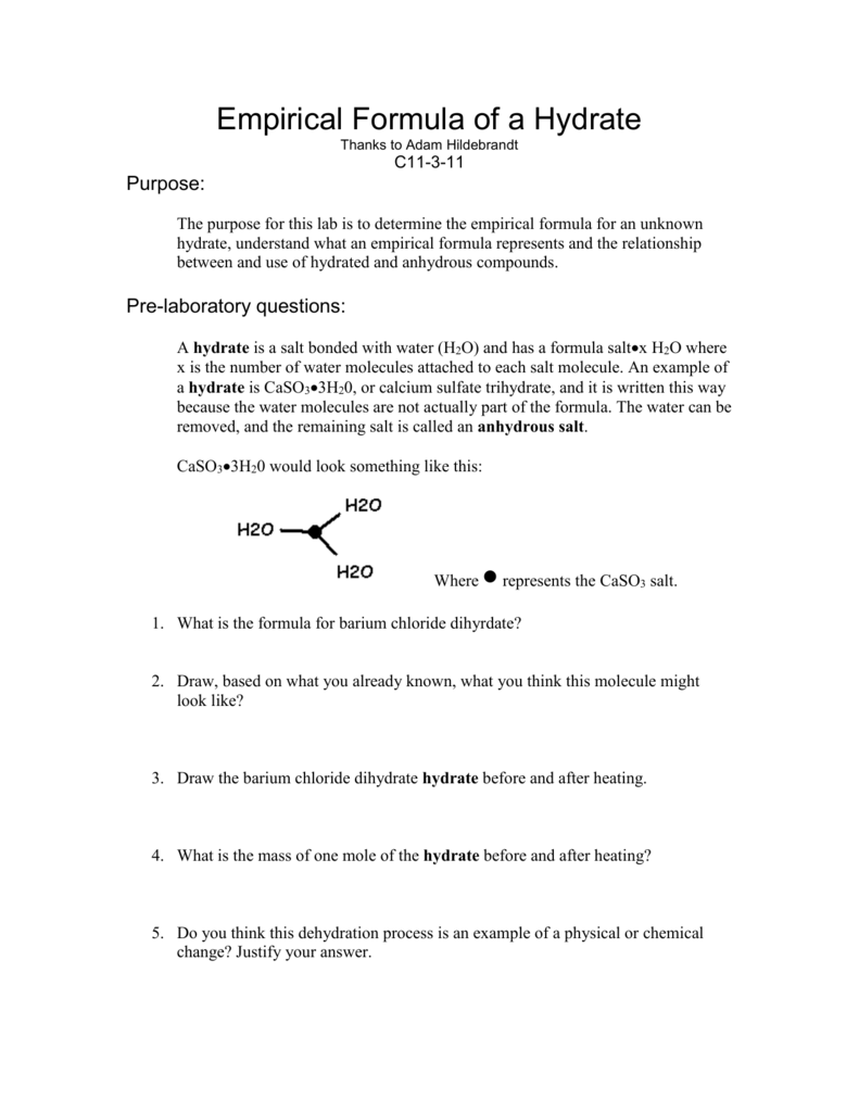 worksheet Determining The Formula Of A Hydrate Chem Worksheet 11 6 007763518 2 304bb3f243ee2db2fe2aa7d2de856e77 png