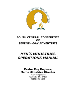 Men`s Ministries Operations Manual