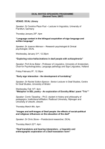 INVITED SPEAKERS PROGRAMME, DCAL