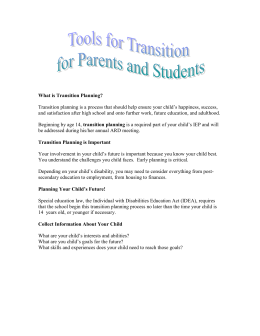 Transition for Parents