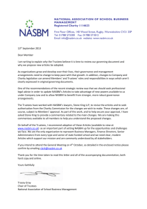 NATIONAL ASSOCIATION OF SCHOOL BUSINESS MANAGEMENT