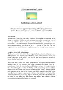 Diocesan Funeral Guidelines - Diocese of Waterford & Lismore