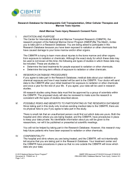Adult marrow toxic injury research sample consent form research sample consent form adult marrow toxic injury altavistaventures Gallery