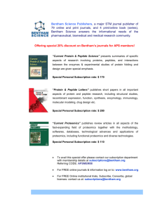 Bentham Science Journals Discounts
