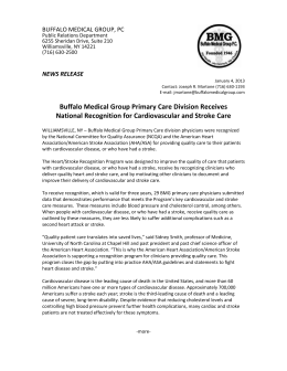 Buffalo Medical Group Primary Care Division Receives National
