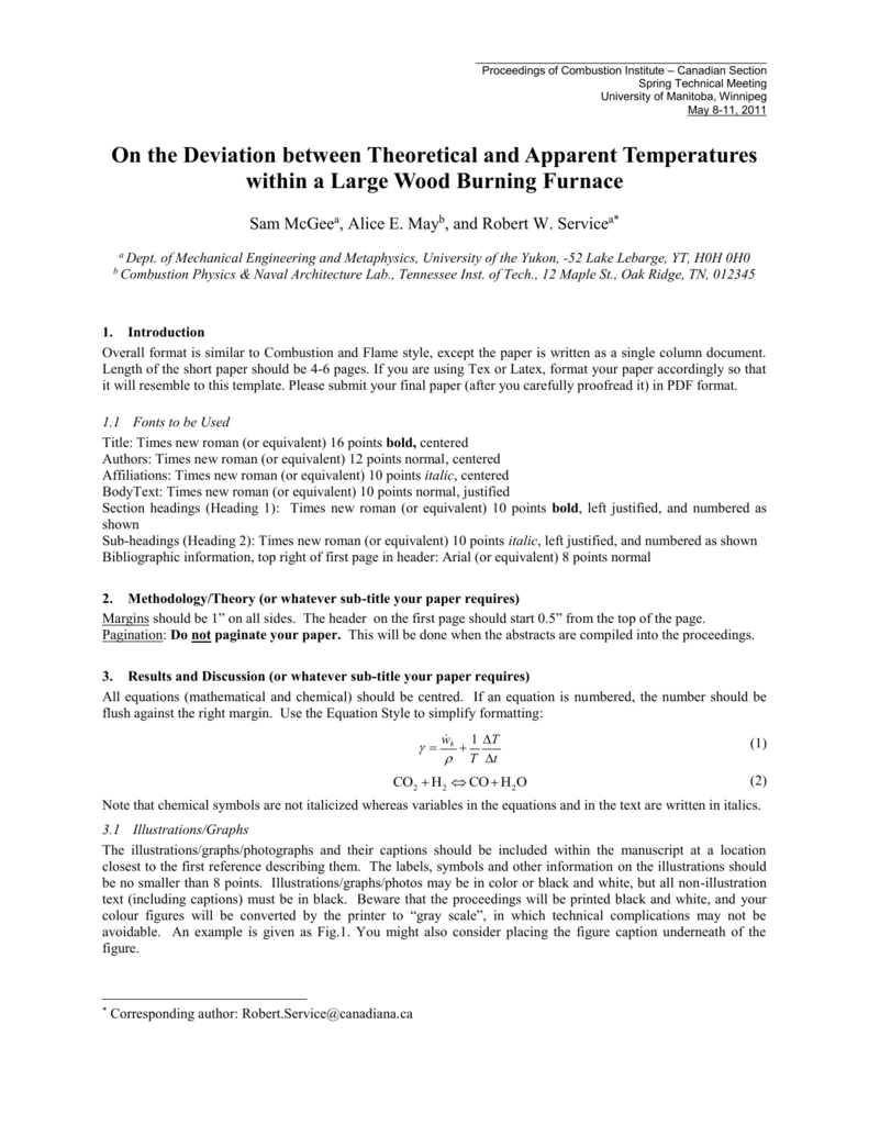 Sample Document - University of Manitoba