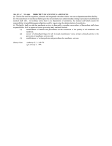 10A NCAC 13B .4604 DIRECTION OF ANESTHESIA SERVICES (a