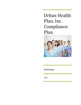 UHP compliance plan summary