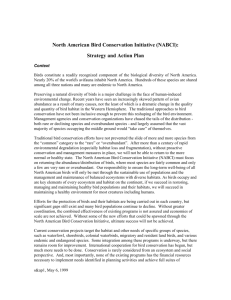 North American Bird Conservation Initiative (NABCI):