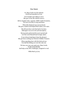 Poem - Our Saint by Hilda Buck
