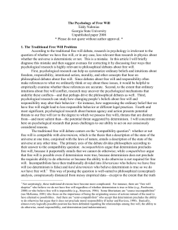 an analysis of the compatibalism as the soft determinism Free online library: recent buddhist theories of free will: compatibilism, incompatibilism, and beyond(p 279-316, essay) by journal of buddhist ethics philosophy and religion buddhism analysis compatibilism determinism determinism (philosophy) free will free will and determinism.