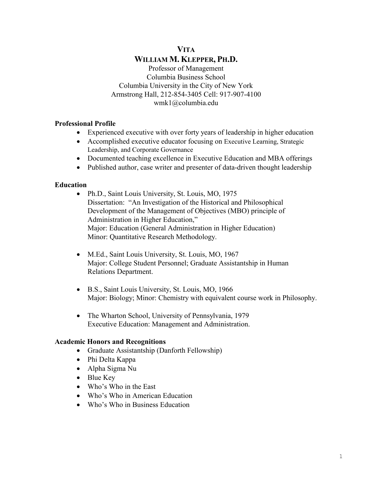 historical development of business education