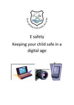 E safety parents booklet
