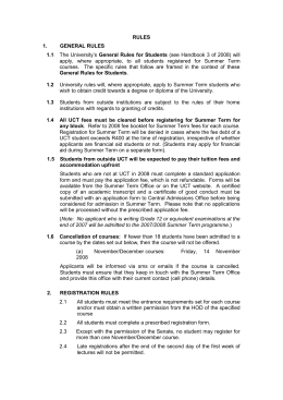 3. rules for courses offered during summer term 2008/2009